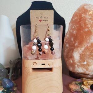 Multi Stone Crystal Beaded Earrings
